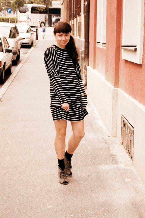 cosmic audrey zara stripe dress