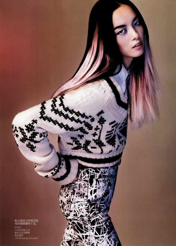 knits mania meghan collison vogue china october 2010